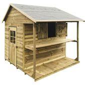 Domek ogrodowy dla dzieci 4IQ Zuza drewniany