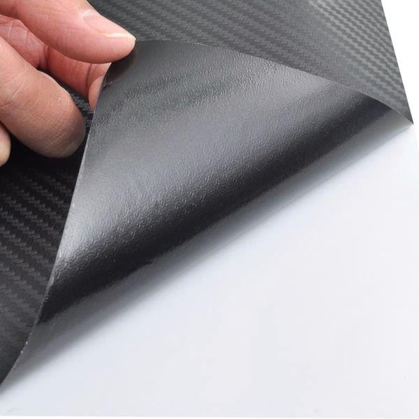 Naklejka samochodowa winyl/carbon 3D czarna 152 x 500 cm zdjęcie 6