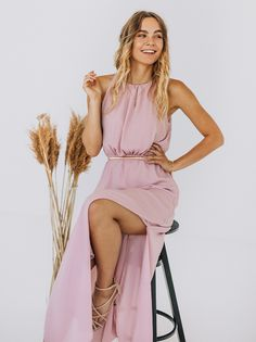 Sukienka Maxi Dalia Różowa-S