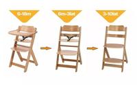 Safety 1st Timba krzesełko do karmienia NATURAL WOOD 3w1 od 6m do10lat