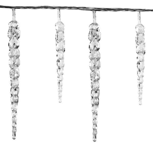 Lampki ogrodowe w kształcie sopli 40 LED, zimne białe wew./zew. zdjęcie 6