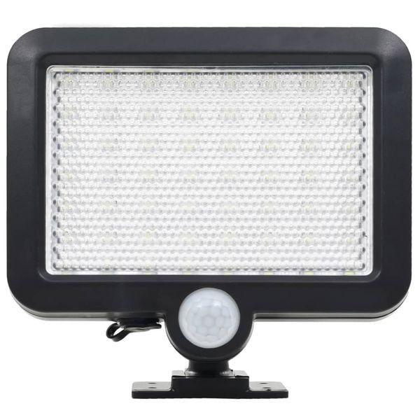 Lampa solarna z czujnikiem ruchu, białe LED zdjęcie 4