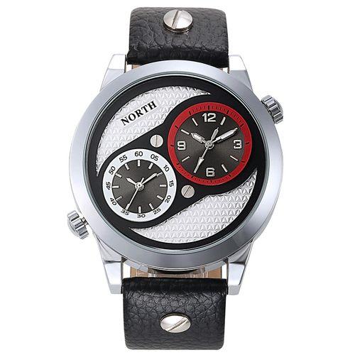 Zegarek męski North 6011, zielony, biały, złoty, czarny, wodoszczelny na Arena.pl