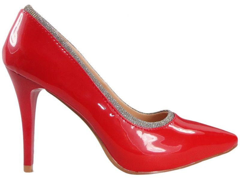 Szpilki czerwone lakierowane buty damskie 38 na Arena.pl