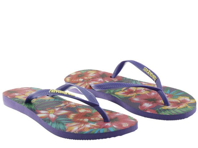 Japonki Havaianas Slim Hibisco Purple 4141590-0719 - 35/36 zdjęcie 5