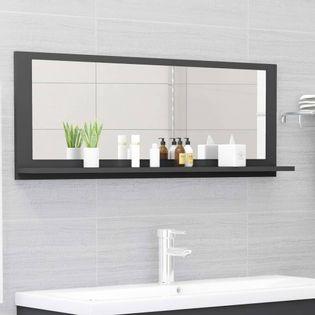 Lumarko Lustro łazienkowe, szare, 100x10,5x37 cm, płyta wiórowa