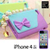 Pokrowiec na iPhone'a damska torebka z perełkami