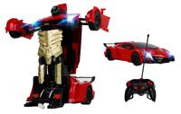 Transformer auto robot sterowany pilotem / ręką USB CZERWONY Z181C