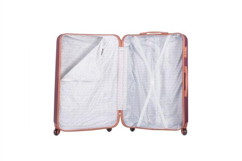 Walizka kabinowa torba podróżna twarda ABS mała S bordowa NOWY MODEL! zdjęcie 2