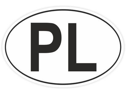 Naklejka PL na auto Polska samochodowa PeeLka