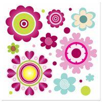 OBRAZ DRUKOWANY  Kolorowe kwiaty 30x30