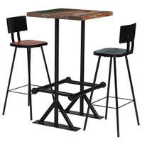3-częściowy zestaw mebli barowych drewno z odzysku kolorowy VidaXL