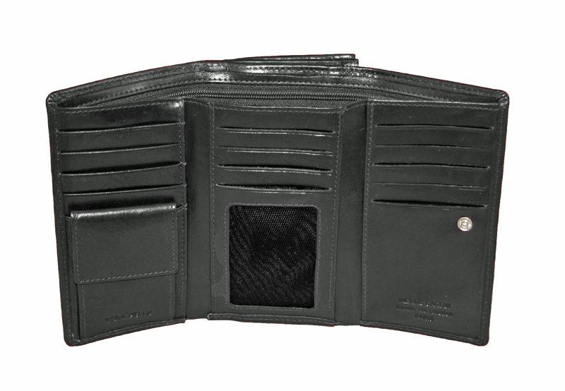 Czarna damska portmonetka Pierre Cardin, skóra naturalna zdjęcie 5