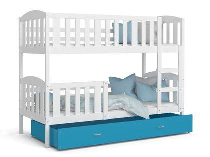 Łóżko piętrowe KUBUŚ 200x90 + szuflada + materace