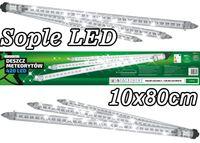 Sople LED zewnętrzne • 10 tub po 80 cm sznur 27 m • efekt płynięcia • 420 LED • Zewnętrzne lampki choinkowe LED NR 1764 Zimny biały