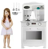 Kuchnia Drewniana Dla Dzieci z Oświetleniem + metalowe garnki U31G zdjęcie 6
