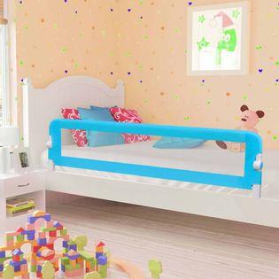 Barierka do łóżeczka niebieska 180x42cm VidaXL