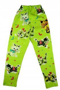 Legginsy Kotki zielone, bawełna roz.128
