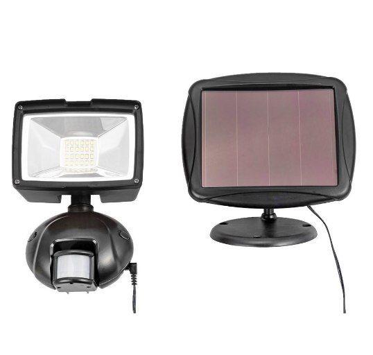 Lampa LED solarna IP44 cz. ruchu ścienna 1000lm 12W swe zdjęcie 1