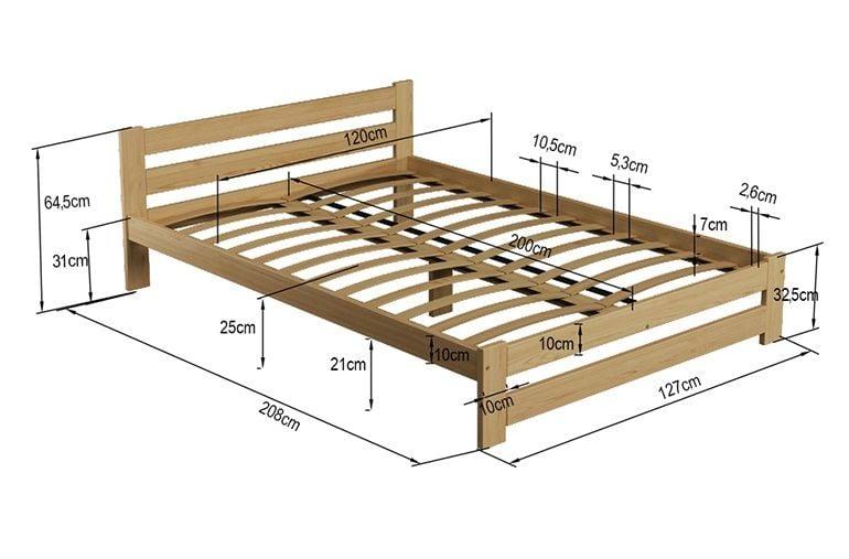 Łóżko 120x200 Sosnowe Białe Stelaż Zagłówek A1 zdjęcie 5