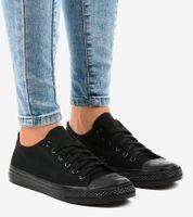 Klasyczne damskie trampki czarne WQ801 40