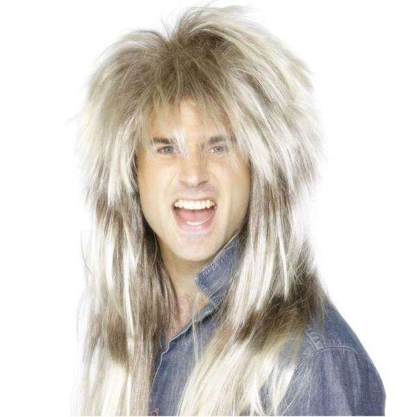 PERUKA hard ROCK BLOND długie włosy ROCKOWA zdjęcie 1
