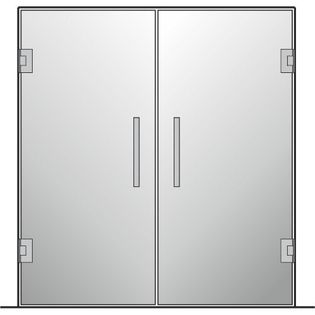 Drzwi szklane wahadłowe mocowane do ściany (lustro) NA WYMIAR !