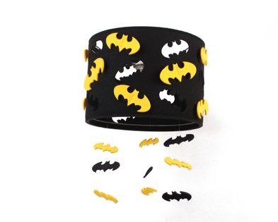 Lampa filcowa BATMAN czarno żółta lub żółto czarna
