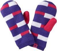 Rękawiczki zimowe dziecięce ADIDAS STRIPY GLOV/MIT - Fioletowy    Różowy    Biały XS
