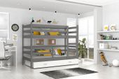 Łóżko piętrowe JACEK COLOR  80x190  szuflada + materace