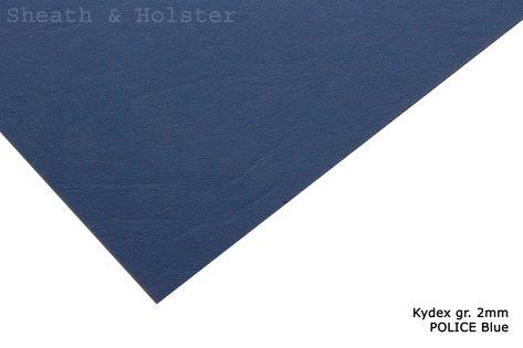 Kydex POLICE Blue - 200x300mm gr. 2mm