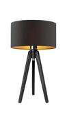Lampa stolikowa SABA czarny ze złotym wnętrzem