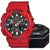 Zegarek Casio G-shock GA-100B-4AER czerwony