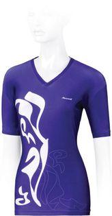 Koszulka rowerowa ACCENT BREVA M fioletowo-biała