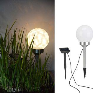 HI Solarna lampa kulista LED do ogrodu, obrotowa, 15 cm