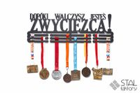 Wieszak na medale | DOPÓKI WALCZYSZ JESTEŚ ZWYCIĘZCĄ | 60cm metalowy