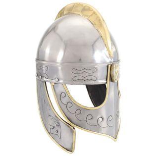 Lumarko Replika zabytkowego hełmu Beowulfa, LARP, srebrna stal