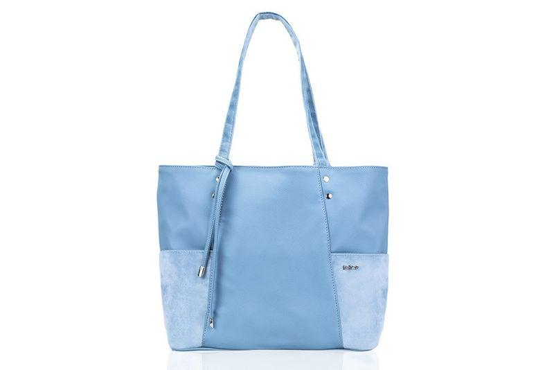 17ac853ce9322 Shopperka torebka damska Felice Bonita błękitna skórzana na ramię zdjęcie 2