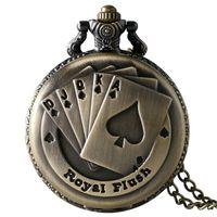 Piękny zegarek kieszonkowy royal flush poker
