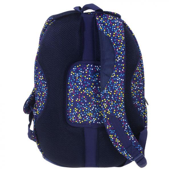 25246323b0303 Plecak szkolny młodzieżowy Back UP kolorowe kropki MULTICOLOR DOTS +  słuchawki (PLB1C3) zdjęcie 3