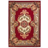 Orientalny dywan, perski wzór, 140 x 200 cm, czerwono-beżowy