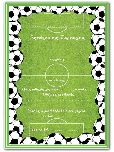 Zaproszenia Na Urodziny Dla Chłopca Wzór Piłkarskie Arenapl