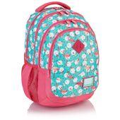 Plecak szkolny młodzieżowy Astra Head HD-83, miętowo-różowy we flamingi