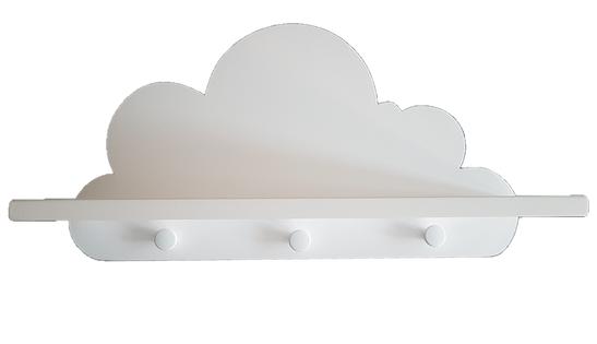 Półka chmurka wieszak, wersja IBIZA z wieszakiem