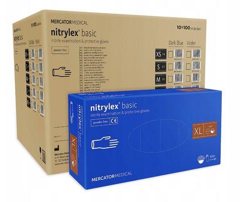 Rękawice nitrylowe nitrylex basic XL karton 10 x 100 szt na Arena.pl