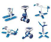 Roboty solarne 6w1 - wiatrak, helikopter, auto, robot