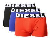 DIESEL UMBX SHAWN TRUNK BOXER 3-PACK Black/Red/Blue 00SAB2-0AAMT-04 - L