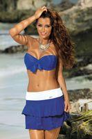 Spódniczka Mila Blu Persia-Bianco M-334 (24) Rozmiar S