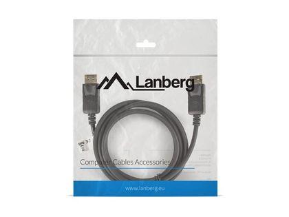 LANBERG Kabel DisplayPort M/M 4K 1.8M czarny