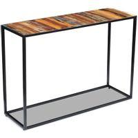 Stolik-konsola, lite drewno odzyskane, 110x35x76 cm